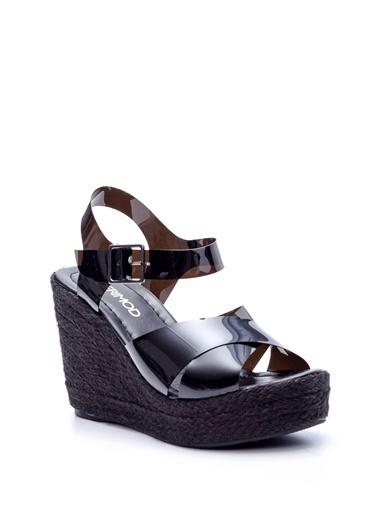 Derimod Kadın Sandalet(15705) Casual Siyah